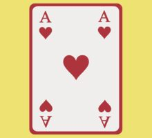 Poker ace heart Kids Clothes