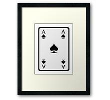 Poker ace spades Framed Print
