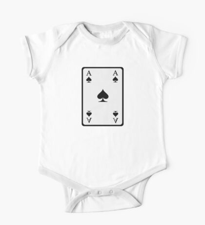 Poker ace spades One Piece - Short Sleeve