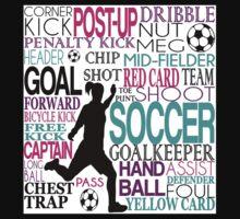 Words of football 578 Kids Tee