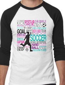 Words of football 578 Men's Baseball ¾ T-Shirt