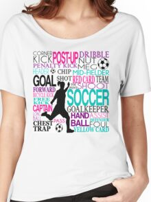 Words of football Women's Relaxed Fit T-Shirt