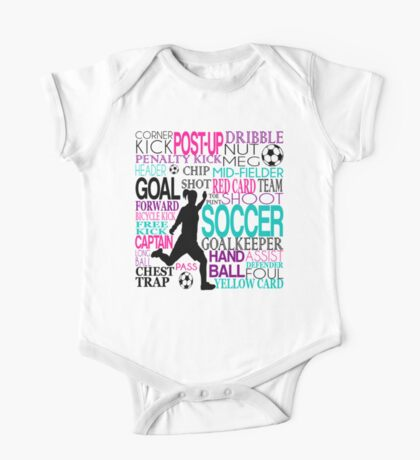 Words of football 578 One Piece - Short Sleeve