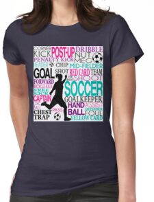 Words of football 578 Womens Fitted T-Shirt