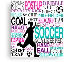 Words of football 578 Canvas Print
