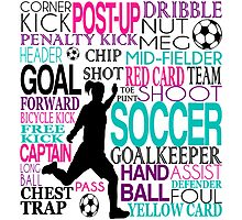 Words of football 578 Photographic Print