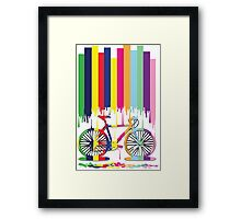 Rainbow bicycle art Framed Print