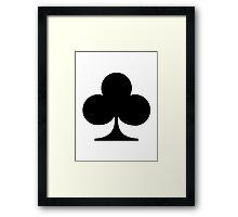 Poker clubs Framed Print