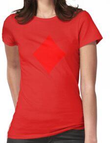 Poker diamonds Womens Fitted T-Shirt