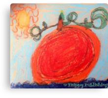 Sunny Pumpkin Patch Canvas Print