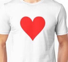Poker red heart Unisex T-Shirt