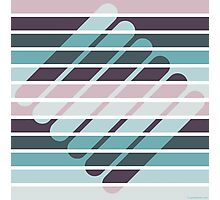 Fusion of shapes and color harmony Photographic Print