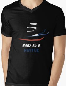 MAD As A Hatter Mens V-Neck T-Shirt