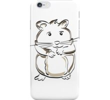 hamster rodent drawing mammal nature comic funny iPhone Case/Skin