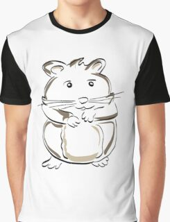 hamster rodent drawing mammal nature comic funny Graphic T-Shirt