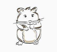 hamster rodent drawing mammal nature comic funny Unisex T-Shirt