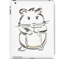 hamster rodent drawing mammal nature comic funny iPad Case/Skin