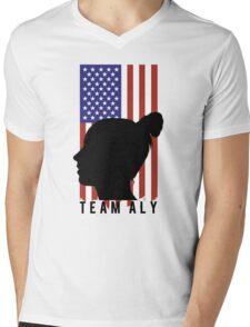 TEAM ALY Mens V-Neck T-Shirt