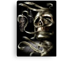Mummy Skull Canvas Print