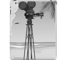 Old Movie time vintage film camera iPad Case/Skin
