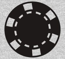 Casino poker chips One Piece - Short Sleeve