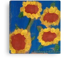Nadia's Sunny Summer Flowers Canvas Print