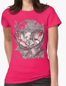 Rabbit on a Fools Cap Map  Womens Fitted T-Shirt