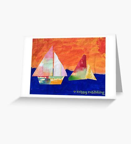 Sail Away - by Nadia Greeting Card