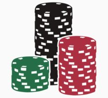 Poker Roulette chips gambling Kids Tee