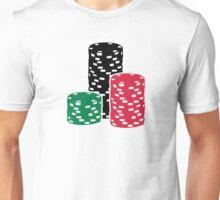 Poker Roulette chips gambling Unisex T-Shirt