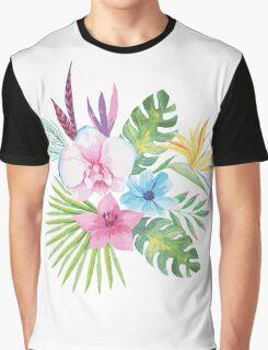 Tropical Vintage Floral Bouquet Graphic T-Shirt