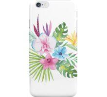 Tropical Vintage Floral Bouquet iPhone Case/Skin