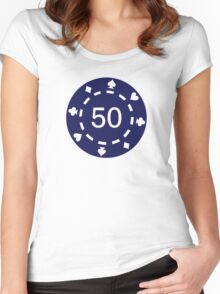 Poker chips Women's Fitted Scoop T-Shirt