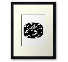 Poker chips 100 Framed Print