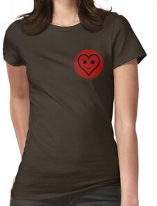 SMILEY HEART Womens Fitted T-Shirt
