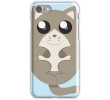 Cute Cat Meow in Blue iPhone Case/Skin