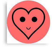 SMILEY HEART Canvas Print