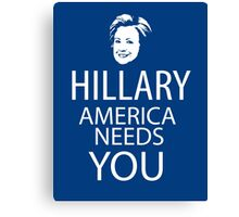 Hillary for president Canvas Print