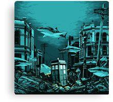 Underwater Tardis Canvas Print