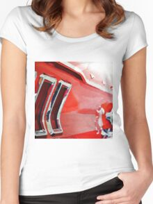 vintage car aquarell Women's Fitted Scoop T-Shirt