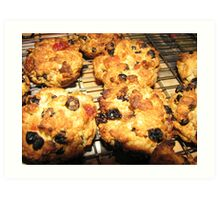Rock Cakes Hot From The Oven Art Print