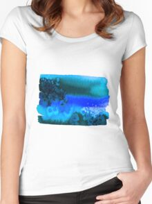 Watercolor shape. Women's Fitted Scoop T-Shirt