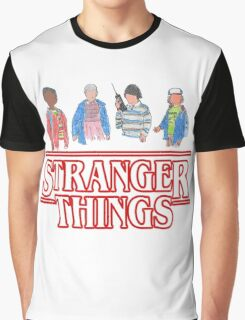 Stranger Things - the Gang Graphic T-Shirt
