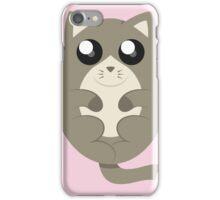 Cute Cat Meow in Pink iPhone Case/Skin