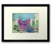 Hearts Aflame - by Nadia Framed Print