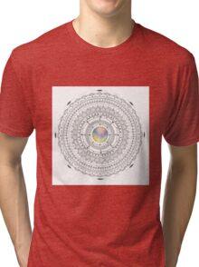 coloured centre mandala Tri-blend T-Shirt