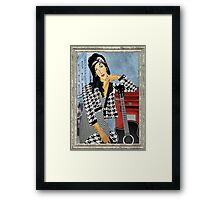 Amy Winehouse in London Framed Print
