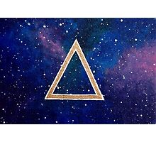Bronze Symbology: Fantasy Galaxy Acrylic Painting Photographic Print