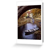 A Backwater in Prague Greeting Card