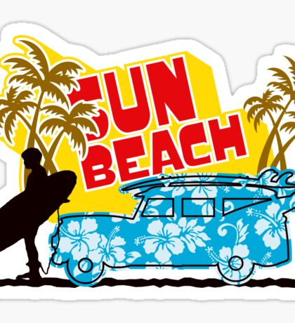 Sun Beach 578 Sticker